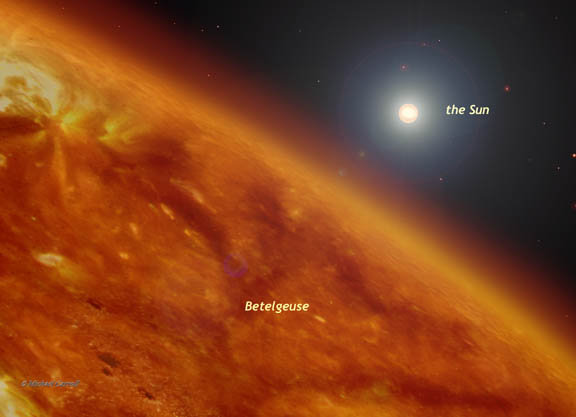 betelgeuse star compared to the sun - photo #4