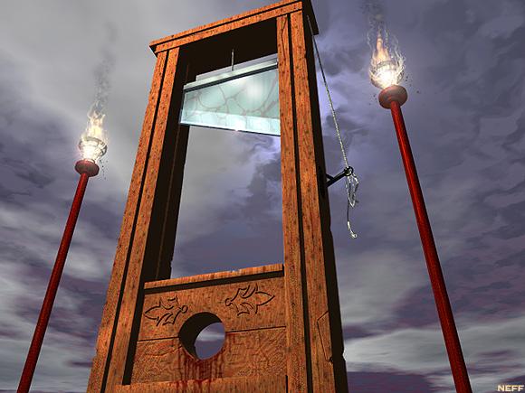 Noahide laws guillotines