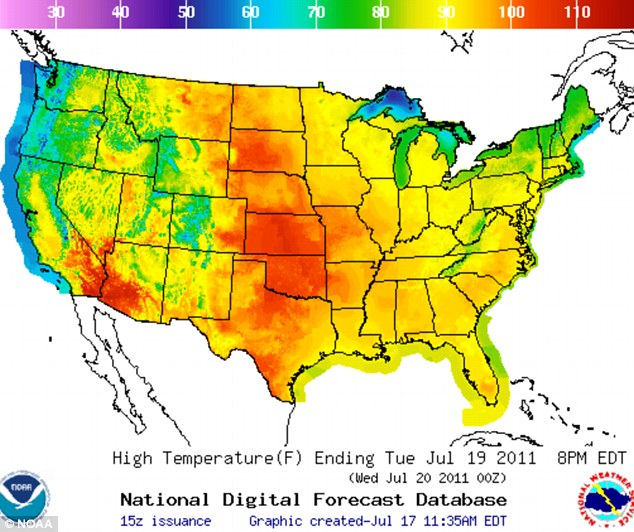 Heat Warnings Issues In States CRISISBOOM - Us heat map