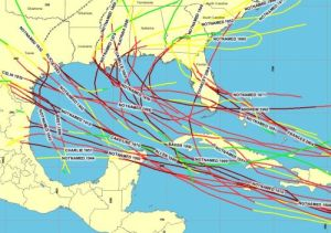 Galveston, Texas in the Gulf of Mexico has the highest rate of hurricane activity than anywhere else in the USA. The Gulf area reports more hurricane activity than any other part of the US.